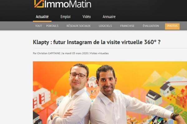 Klapty | futur Instagram de la visite virtuelle 360° ?