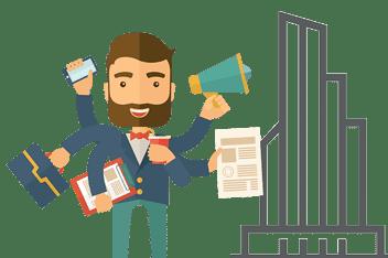 Entrepreneurs, schools, and companies