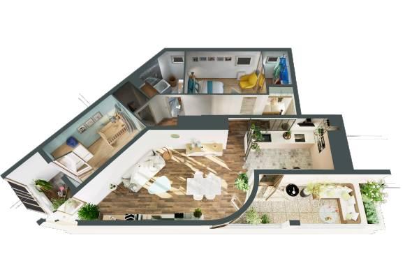 Tarif et coût Charlotte Chapin Plan 3D avec proposition de projet