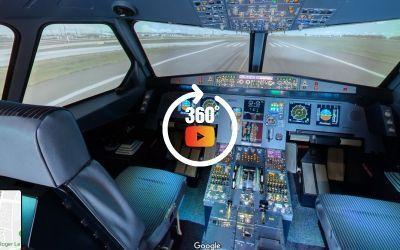 Cockpit d'un simulateur de vol