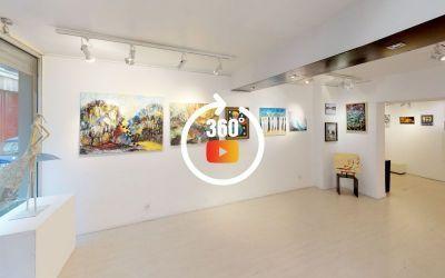 Visite 3D matterport Galerie d'Art