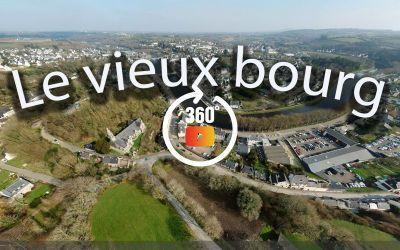 Chateaulin vu du vieux bourg à 360°