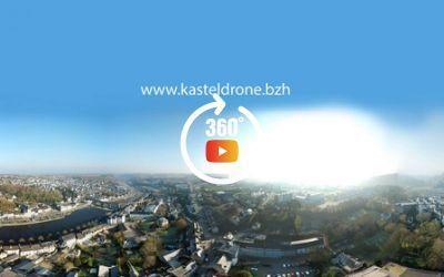 Chateaulin vue du centre à 360°
