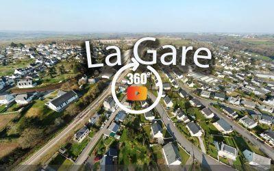 Châteaulin vue de la gare à 360°