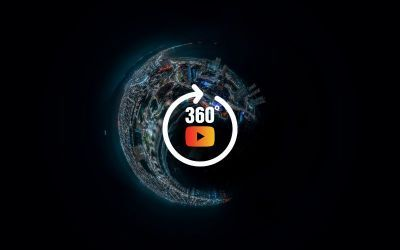 Aerial night 360 Photography at Iquique, Chile