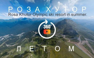a big tour of the resort of Rosa Khutor, the Olympic capital of 2014 in the mountains of the Caucasus
