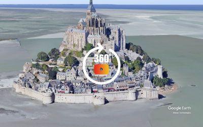 Survol Mont Saint-Michel