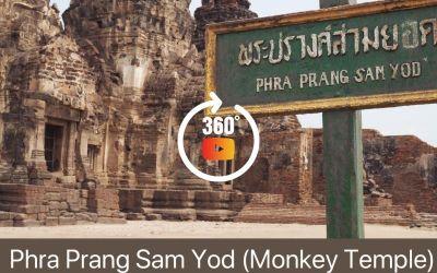Monkey Temple Lopburi Thailand