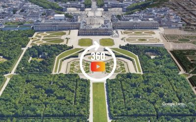 Survol du château de Versailles