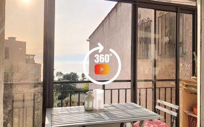 En Corse à Ajaccio, un appartement F2 de 37 m² avec vue mer à ASPRETTO