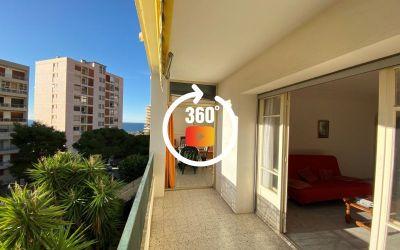 En Corse, à Ajaccio, route des Sanguinaires, Résidence Plein Soleil, un F2 à transformer en F3 de 74 m²