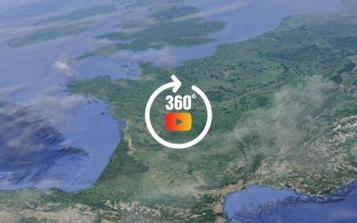 Carte des survols Google Earth