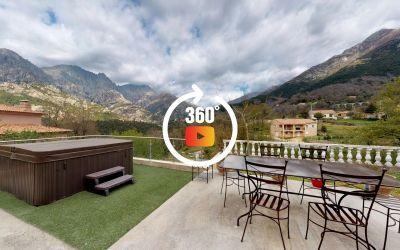 A proximité d'Ajaccio, à Bocognano, vente d'une maison rénovée avec garage et jardin - Vue sur les montagnes