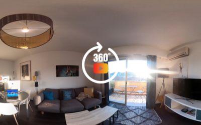 Appartement 2 pièces en dernier étage à vallauris