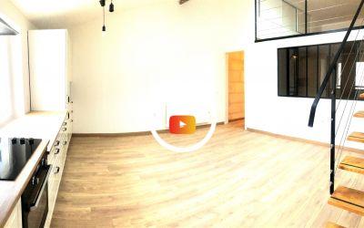 Appartement T2 + bureau 57 m² carrez 75 m² au sol