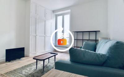 Batignolles - Studio meublé avec terrasse - Paris 17 ème