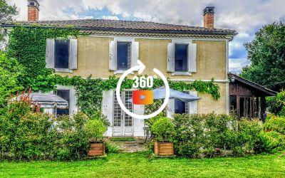 Belle Girondine de 200 m2, dans le Parc Naturel Régional des Landes de Gascogne sur une propriété de 7 hectares.