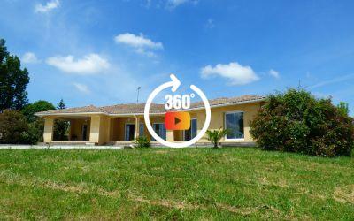 Villa de 144 m² sur 5000 m² avec piscine et vue pyrénées