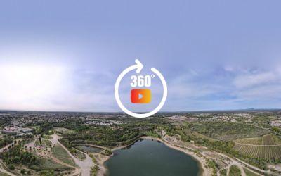 lac du crès - 360 aérien