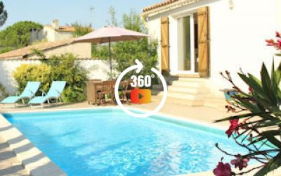 Puimisson villa France with pool for 12 month long term rentals