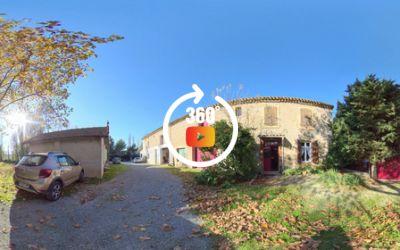 Vigneronne T6 meublée, garage, atelier, piscine, terrain 1360 m² - meublée