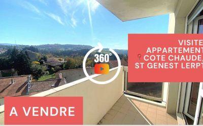 Visite virtuelle: F3 avec balcon, cave et parking privé à Côte-Chaude\/Saint-Genest-Lerpt