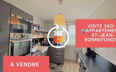 Visite virtuelle: F3 avec balcon, cave et parking privé à Saint-Jean-Bonnefonds