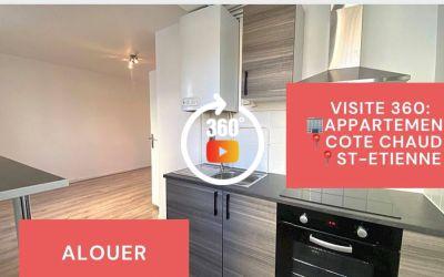 Visite virtuelle, F2 rénové, Cote Chaude, Saint-Etienne
