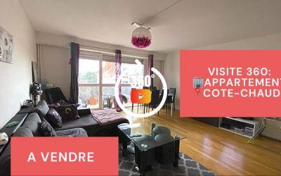 Visite virtuelle: F4 avec balcon, cave et garage, Côte-Chaude-Michon, Saint-Etienne