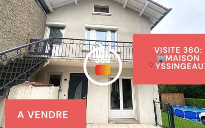 Visite virtuelle: Maison de type F4, terrasse et jardin, Yssingeaux