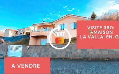 Visite virtuelle: maison de type F4, terrasses, terrain, La Valla en Gier