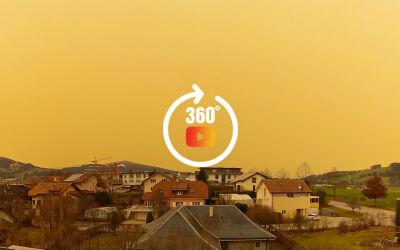 Les sables du Sahara en Suisse et en France : Tempête Ciel Jaune