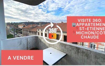 Visite virtuelle: F3 avec balcon, cave et garage à Côte Chaude\/ Michon à Saint-Etienne