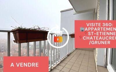 Visite virtuelle: F2 avec balcon, cave et garage, Chateaucreux, Saint-Etienne