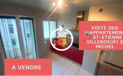 Visite virtuelle: F2 avec balcon, cave et grenier, Villeboeuf\/Saint-Michel, Saint-Etienne