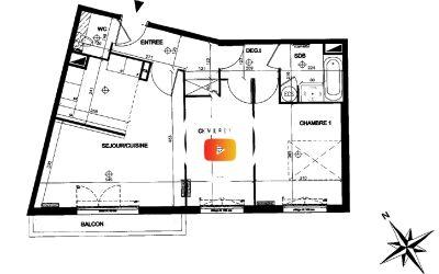 Appartement 3 pièces et parking Antony Secteur Descartes RER C