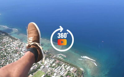 Panorama 360 en parapente au dessus du lagon