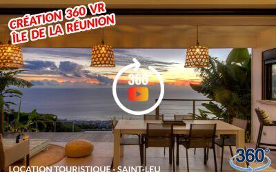 Création de visite virtuelle 360 pour location touristique à La Réunion