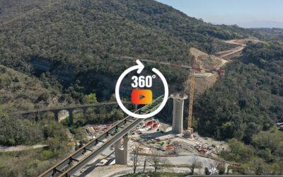 Deviation du Teil Ardèche. Travaux de contournement. Eiffage