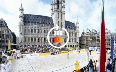 Volley Beach at Brussels grand place