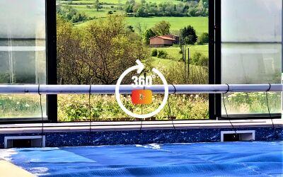 Maison avec piscine et vue 63160